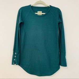 CHASER Long Sleeve Waffle Thermal Tunic XS A220